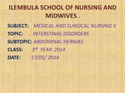GROUP NO.1 HERNIAS