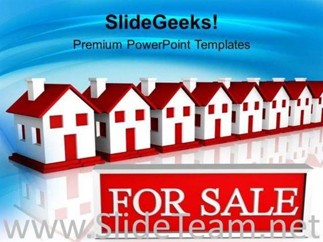 houses for sale powerpoint templates ppt background for slides