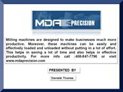 MDAprecision - Effective Milling Machines