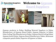 Gypsum Products in Dubai