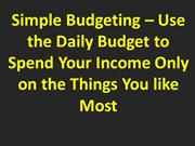 Simple Budgeting