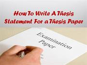 How to Teach Children to Write a Thesis Statement | Synonym