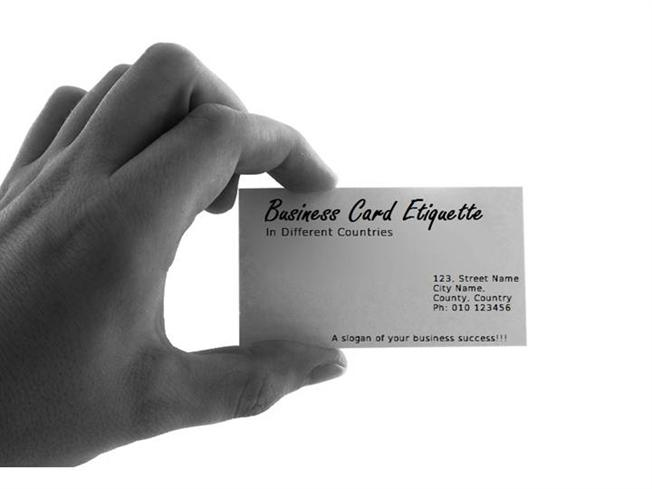 Business Card Etiquette in Different Countries |authorSTREAM