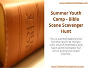 Summer Youth Camp - Bible Scene Scavenger Hunt
