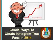 Crucial Ways To Obtain Instagram True Fans In 2014