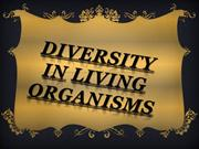 DIVERSITY IN LIVING ORGANISMS  pooja