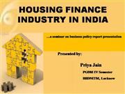 housing finance industry in India