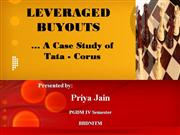leveraged buyouts case study -tata corus