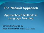 The Natural Approach: Approach & Methods