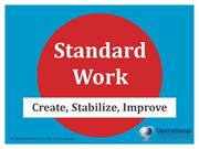 Lean Standard Work by Operational Excellence Consulting