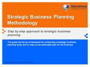 Strategic Business Planning Methodology by Allan Ung