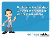 Tips for Effective Literature Searching