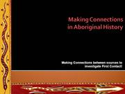 Making Connections in Aboriginal History