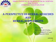 A prespective of herbal medicines and Herbal supplyments