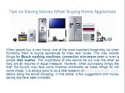Tips on Saving Money When Buying Home Appliances