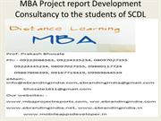 MBA Project report Development Consultancy to the students