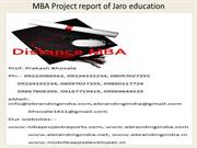 MBA Project report of Jaro education