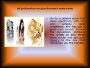 Sell gold jewelryis very good business in today market