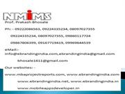MBA Project report of NMIMS Global Access
