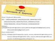 MBA Project report of Sikkim Manipal University