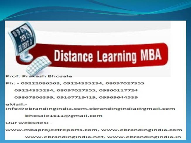 Mba project report of symbiosis centre for distance learning mba project report of symbiosis centre for distance learning authorstream yadclub Choice Image
