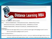 MBA Project report of Symbiosis Centre for Distance Learning