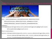 MBA Project report of Welingkar Distance Learning