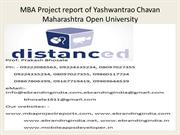 MBA Project report of Yashwantrao Chavan Maharashtra Open University