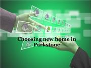 Choosing new home in Parkstone