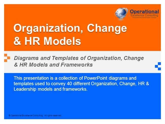organization, change& hr modelsoperational excellence consulti, Powerpoint templates