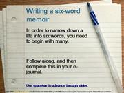 Writing a six word memoir 2