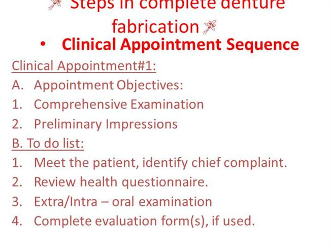 Steps in Complete Denture Fabrication |authorSTREAM