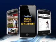 Check out the benefits of mobile website development