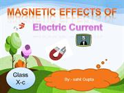 ppt on magnetic effect fof electric current