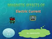 ppt on magnetic effect oof electric current