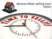 Advices When selling your home