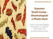 Summer Youth Camp - Onomatopoeia Photo Hunt