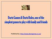 Darts Games & Darts Rules, one of the simplest games to play with fami