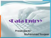 data entry job by Touqeer
