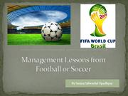 Management Lessons from Football or Soccer