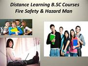 B.SC Fire Safety & Hazard Man