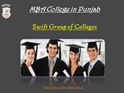 MBA College in Punjab | Swift College