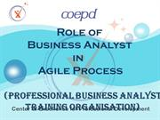 Role of Business Analyst in Agile Process - COEPD