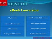 Outsource  eBOOK CONVERSION with TEQTS