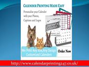 Get High Quality Calendar Printing Service In London
