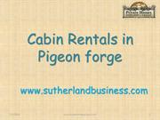 Cabin Reantal in Pigeon Forge- www.sutherlandbusiness.com