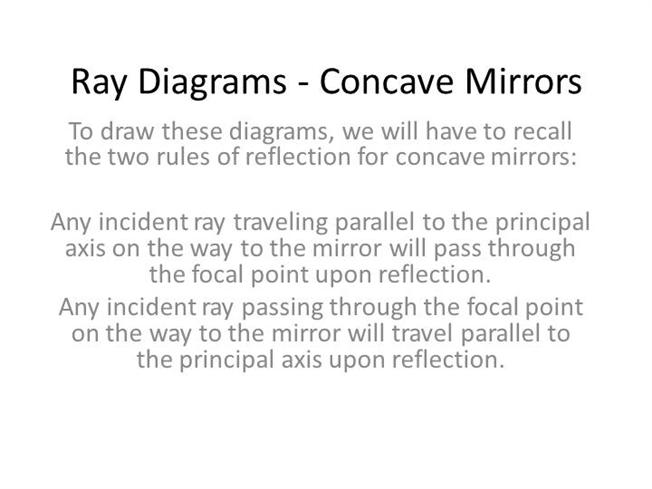 Ray Diagrams Concave Mirrors Authorstream