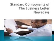 Standard Components of The Business Letter Nowadays