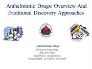 Anthelmintic drug: overview  and traditional discovery approaches