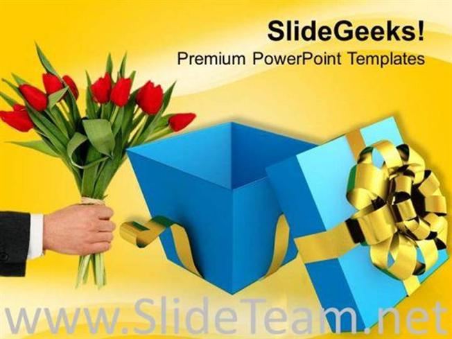 Open gift box surprise powerpoint templates ppt background for related powerpoint templates negle Image collections